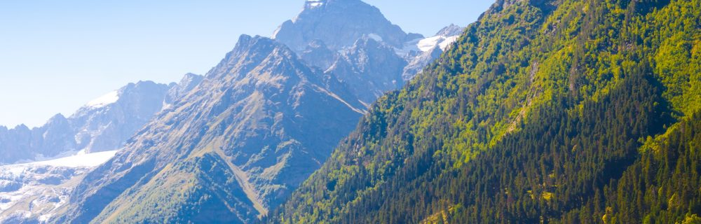 summer mountain peaks