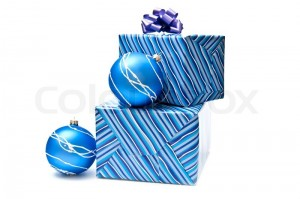 blue ornaments and gifts image