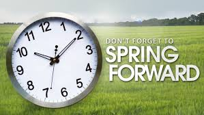 clock with reminder of daylight savings time