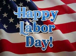 flag with happy labor day image